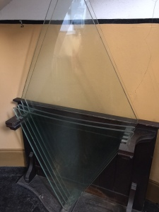 Spare window panes that surprisingly have never been needed, which is surprising considering the wars it has withstood. Interestingly, the Geneva convention prohibits the targeting of lighthouses.