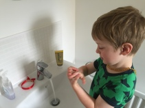 Thorough wash with soap while singing ABCs