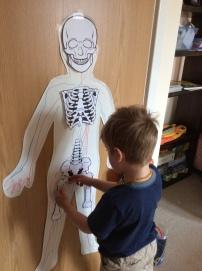Placing his bones