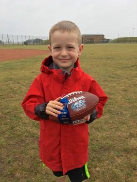 And his football