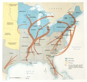 Movements of escaped slaves